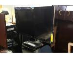 Lot: 9.BR - (3) TVS, (2) DVD PLAYERS & CART