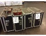 Lot: 6448 - (4) Rolling Band Carts & (2) Cellos