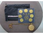 Lot: 943 - MEDALS, POUCH & ELGIN POCKET WATCH