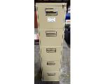 Lot: 02-22700 - Metal File Cabinet With Key