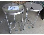 Lot: 59-099 - (2)Stainless Steel Step Trash Cans