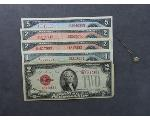 Lot: 72 - U.S. & FOREIGN CURRENCY & 10K LAPEL STICK PIN