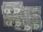 Lot: 381 - 1934 GREEN SEAL COLLECTIBLE $20 BILLS