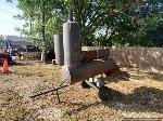 Lot: 285 - Large BBQ pit on Wheels