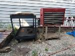 Lot: 302 - Tool Box, Tool Cart, Racks, Table Frame