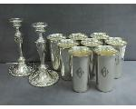 Lot: 7513 - STERLING TUMBLERS
