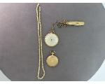 Lot: 7538 - POCKET WATCHES & PEARL LIKE NECKLACE W/10K CLASP