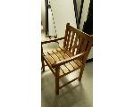 Lot: 15.BE - WOOD CABINET, DESK & (4) CHAIRS