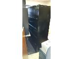 Lot: 21&22.BE - WOOD BOOKSHELF, DESK PIECES & (2) FILING CABINETS