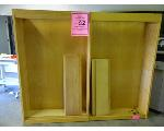 Lot: 61&62.UV - (2) CLOTHING RACKS, CABINETS, BOOKCASE, TRASH CANS