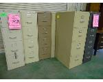 Lot: 83.UV - FILE CABINETS, REFRIGERATOR, TABLE, CHAIRS