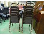 Lot: 84&85.UV - TAUPE LOVESEAT, HVAC TEACHING ITEMS, ROLLING LIBRARY CART, TABLES, BOOKCASES, STACKABLE CHAIRS