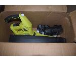 Lot: 1547 - Gas Chainsaw And Electric Blower
