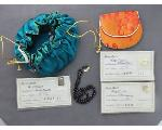Lot: 1036 - LOOSE STONES, JEWELRY BAG & NECKLACE W/14K CLASP