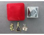 Lot: 1041 - LAPEL PIN, PENDANT & 14K RING