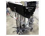 Lot: 02-22905 - (18) Sheet Music Stands w/ Rolling Cart