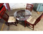 Lot: 02-22915 - Table w/ (3) Chairs