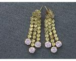 Lot: 7647 - 18K PAIR EARRINGS