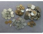 Lot: 162 - DIMES, NICKELS, PENNIES & FOREIGN COINS