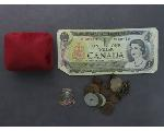 Lot: 163 - TOKENS, FOREIGN CURRENCY & 10K RING