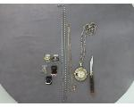Lot: 179 - NECKLACE, PENDANT, KNIFE & 10K & 14K RINGS