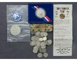 Lot: 1060 - IKE DOLLAR, LIBERTY COIN & DIMES