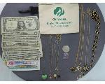 Lot: 1079 - NECKLACES, TOKEN, U.S. & FOREIGN CURRENCY