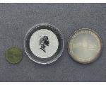 Lot: 7681 - $100 AUSTRALIA PLATINUM COIN, SILVER ROUND & PENNY