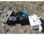 Lot: I37-NWS - Amps, Window Unit, Toolbox, Backpacks