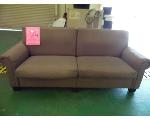Lot: 84.UV - LOVE SEAT, LIBRARY CART, TABLES, BOOKCASES, CHAIRS
