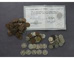 Lot: 189 - QUARTERS, NICKELS, PENNIES & FOREIGN