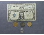 Lot: 191 - TOKENS, SILVER CERTIFICATE & 10K RING