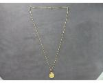Lot: 208 - 14K NECKLACE WITH 1/10 OZ GOLD COIN