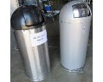 Lot: 60-058 - (2) Stainless Trash Cans