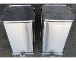 Lot: 60-076 - (2) Stainless Steal Trash Cans