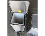 Lot: 60-077 - (2) Stainless Steal Trash Cans