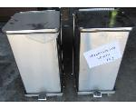 Lot: 60-078 - (2) Large Stainless Steal Trash Cans