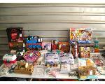 Lot: 49 - WATER BOTTLE, TOYS, SEWING MACHINE, BOOKS