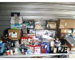 Lot: 52 - PAN, CUTLERY, VACUUM, MAT, BOOKSHELF