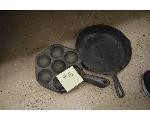 Lot: 16-2501 - (7) Cast iron pans