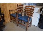 Lot: 39-2403 - Pair of Wooden Chairs