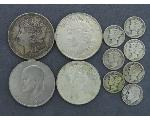 Lot: 7772 - MORGAN, PEACE, IKE DOLLARS, DIMES & FOREIGN
