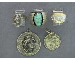 Lot: 7781 - MEDALLION, RINGS, SILVER RING & STERLING METAL