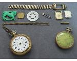 Lot: 1127 - WATCH PIECES, PIN, TOKEN & POCKET WATCHES