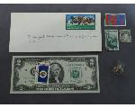 Lot: 1129 - STAMPS, $2 BILL & 10K RING