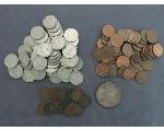 Lot: 1140 - NICKELS, PENNIES & SILVER ROUND