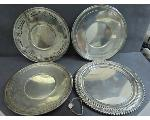 Lot: 7798 - WATCH & STERLING SERVING PLATES