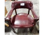 Lot: 02-23229 - Maroon Chair