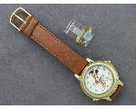 Lot: 1193 - MICKEY MOUSE WATCH & 14K RING