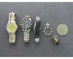 Lot: 1199 - TOKEN, KNIFE, WATCHES & 10K RING